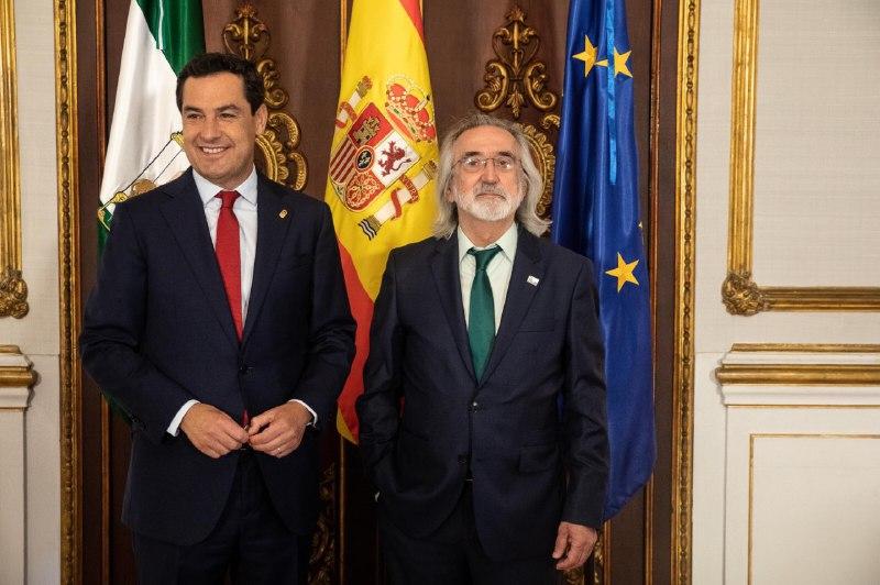 Recepción institucional de la Fundación en el Palacio de San Telmo con el Presidente de los andaluces.